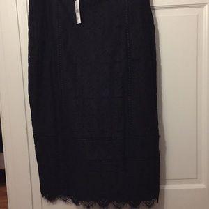 NWT Banana Republic fully lined lace skirt